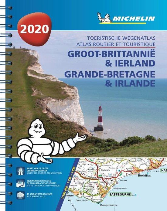 Groot Brittannië/Ierland wegenatlas 2020 9782067237148  Michelin Wegenatlassen  Wegenatlassen Britse Eilanden, Groot-Brittannië