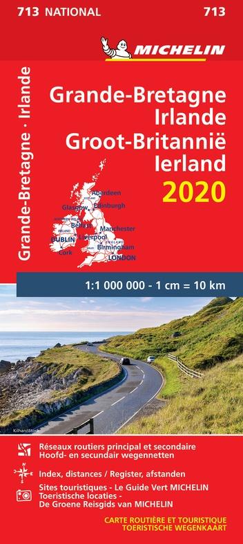713 Groot-Brittannië 1:1.000.000 2020 9782067244160  Michelin Michelinkaarten Jaaredities  Landkaarten en wegenkaarten Groot-Brittannië