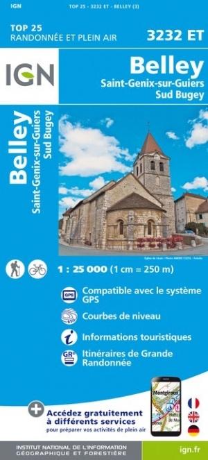 3232ET   Belley, St-Genix-sur-Guiers | wandelkaart 1:25.000 9782758541806  IGN TOP 25  Wandelkaarten Haute Savoie, Mont Blanc