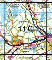 11C  Joure 1:25.000 9789035001121  Topografische Dienst / Kadaster Topografische Kaart  Wandelkaarten Friesland