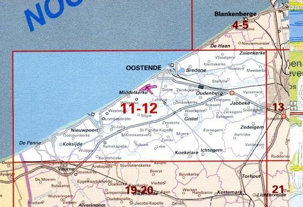 Ngi 12 11 Oostduinkerke Oostende Topografische Kaart 1 50 000