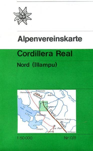 AV-0/08 Cordillera Real Nord [1987] Alpenvereinskarte wandelkaart 5425013065412  AlpenVerein Alpenvereinskarten  Wandelkaarten Bolivia