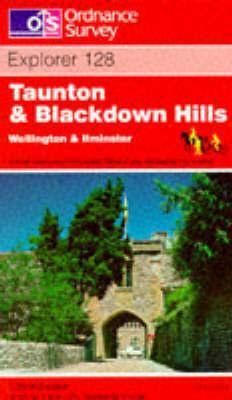 EXP-128  Taunton + Blackdown Hills | wandelkaart 1:25.000 9780319217504  Ordnance Survey Explorer Maps 1:25t.  Wandelkaarten Zuidwest-Engeland, Cornwall, Devon, Somerset, Dorset