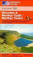 EXP-166  Rhondda, Merthyr Tydfil | wandelkaart 1:25.000 9780319217900  Ordnance Survey Explorer Maps 1:25t.  Wandelkaarten Zuid-Wales, Pembrokeshire, Brecon Beacons