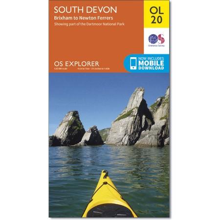 EXP-020  South Devon (OL20) | wandelkaart 1:25.000 9780319242599  Ordnance Survey Explorer Maps 1:25t.  Wandelkaarten Zuidwest-Engeland, Cornwall, Devon, Somerset, Dorset