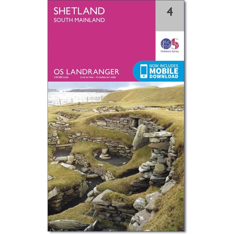 LR-004  Shetland - South Mainland   topografische wandelkaart 9780319261026  Ordnance Survey Landranger Maps 1:50.000  Wandelkaarten Shetland & Orkney