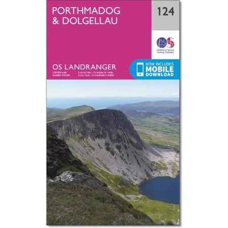 LR-124  Dolgellau | topografische wandelkaart 9780319262221  Ordnance Survey Landranger Maps 1:50.000  Wandelkaarten Noord-Wales, Anglesey, Snowdonia