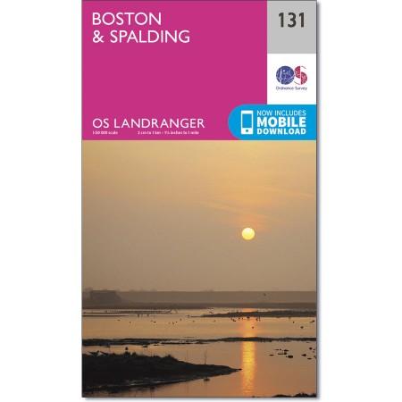 LR-131 Boston, Spalding | topografische wandelkaart 9780319262290  Ordnance Survey Landranger Maps 1:50.000  Wandelkaarten Oost-Engeland, Lincolnshire, Norfolk, Suffolk, Cambridge