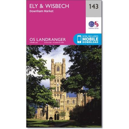 LR-143 Ely & Wisbech | topografische wandelkaart 9780319262412  Ordnance Survey Landranger Maps 1:50.000  Wandelkaarten Oost-Engeland, Lincolnshire, Norfolk, Suffolk, Cambridge