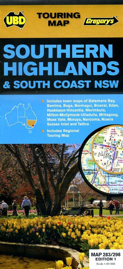 Southern Highlands & South Coast Map 9780731929733  UBD   Landkaarten en wegenkaarten Australië