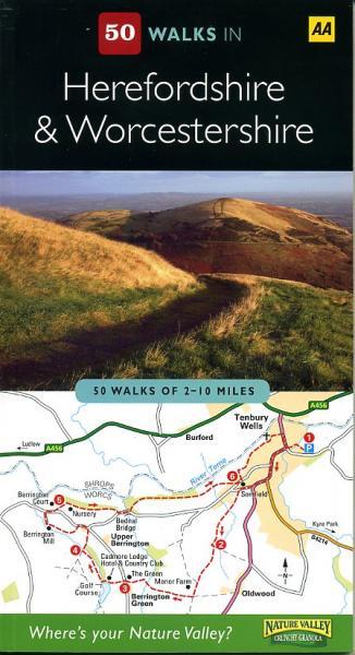50 Walks in Worcestershire + Herefordshire 9780749562984  AA   Wandelgidsen Midlands, Cotswolds, Oxford