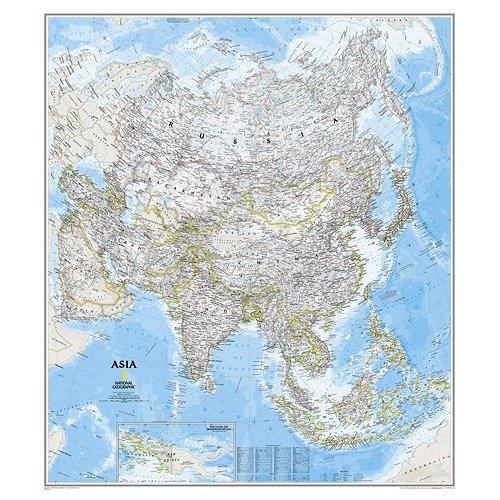 Asia 1:13.812.480 9780792280989  National Geographic NG planokaarten  Wandkaarten Azië