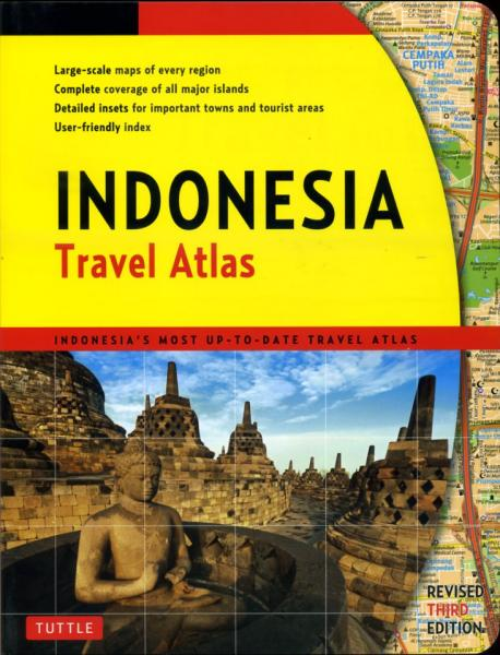 Indonesia Travel Atlas 9780804841986  Periplus Wegenatlassen  Wegenatlassen Indonesië