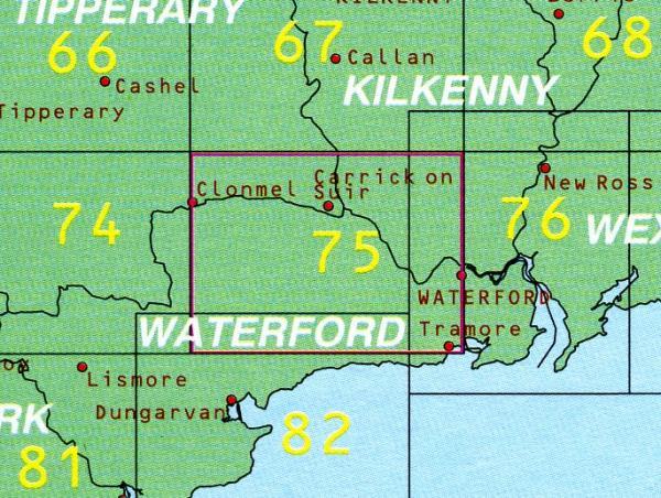 DM-75  Kilkenney - Tipperary 9780904996593  Ordnance Survey Ireland Discovery Maps 1:50.000  Wandelkaarten Wicklow Mountains, Leinster