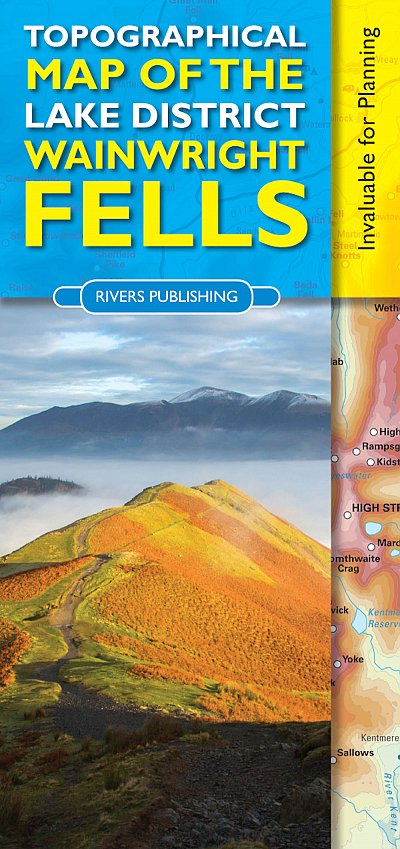 Topographical Map of the Lake District Wainwright Fells 9780955061479  Rivers Publishing   Wandelkaarten Lake District