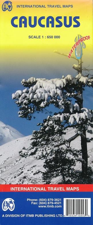 Caucasus   landkaart, autokaart 1:650.000 9781553410553  ITM   Landkaarten en wegenkaarten Kaukasus