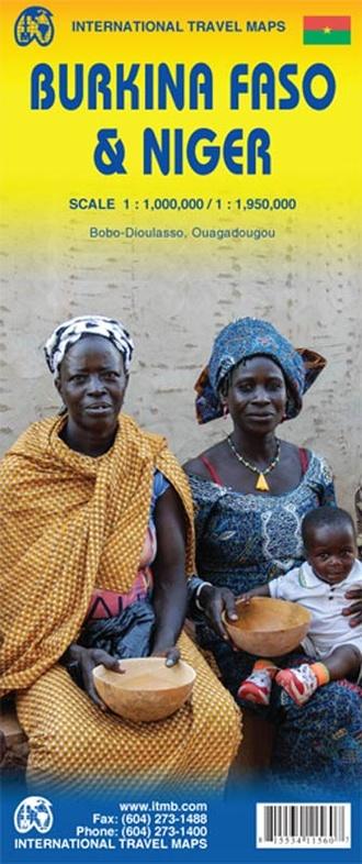 Burkina Faso | landkaart, autokaart 1: 1000.0000 9781553411567  ITM   Landkaarten en wegenkaarten Sahel-landen (Mauretanië, Mali, Niger, Burkina Faso, Tchad, Sudan, Zuid-Sudan)