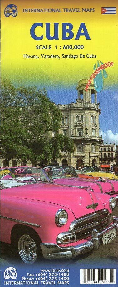 Cuba | landkaart, autokaart 1:600.000 9781553412021  ITM   Landkaarten en wegenkaarten Cuba