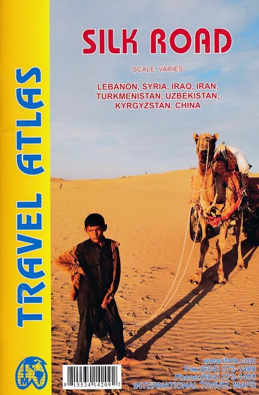 Silk Road Travel Atlas 9781553414209  ITM   Wegenatlassen Centraal-Azië, Iran