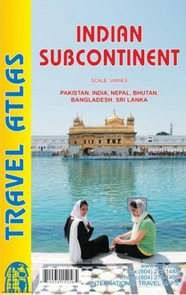 Indian Subcontinent - wegenatlas 9781553415251  ITM   Wegenatlassen Pakistan, India, Bangladesh, Sri Lanka, Malediven