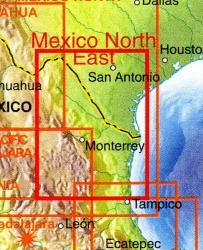 Mexico North East    landkaart, autokaart 1:1.000.000 9781553415923  ITM   Landkaarten en wegenkaarten Mexico behalve Yucatan
