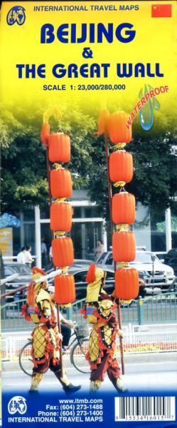 Beijing/ The Great Wall 1:23.000 9781553416012  ITM   Stadsplattegronden China (Tibet: zie Himalaya)