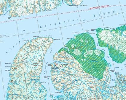 Nunavut | landkaart, autokaart  1:850.000 9781553418450  ITM   Landkaarten en wegenkaarten Canada