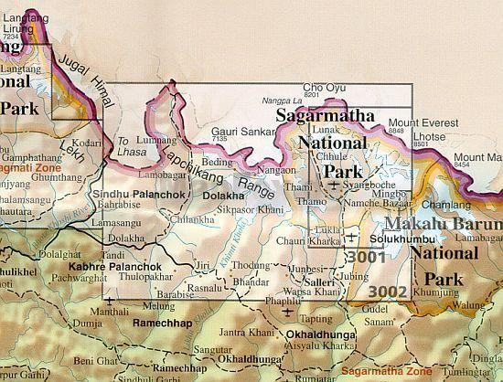 Khumbu 1:125.000 9781566951241  National Geographic / Trails Illustrated Adventure Maps  Landkaarten en wegenkaarten Nepal