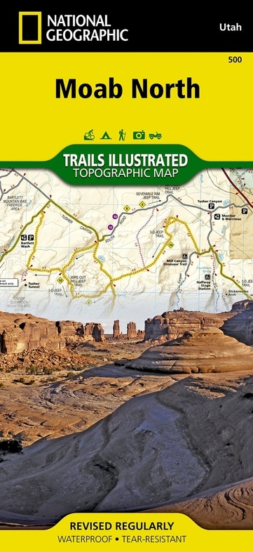 TI500 Moab North 1:70.000 9781566953054  National Geographic / Trails Illustrated Nat.Park/Recr.Series  Wandelkaarten Colorado, Arizona, Utah, New Mexico