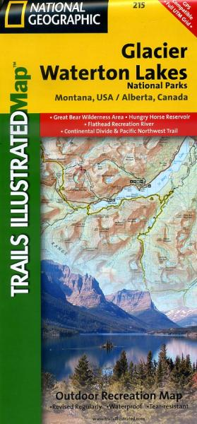 Glacier / Waterton NP Waterproof Map 1:100.000 9781566953184  National Geographic / Trails Illustrated Nat.Park/Recr.Series  Wandelkaarten Washington, Oregon, Idaho, Wyoming, Montana