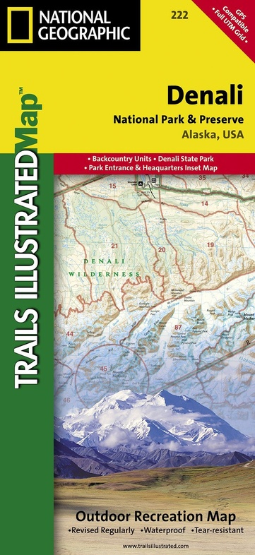 TI222  Denali N.P. + Preserve 1:333.333/200.000 9781566953283  National Geographic / Trails Illustrated Nat.Park/Recr.Series  Landkaarten en wegenkaarten Alaska