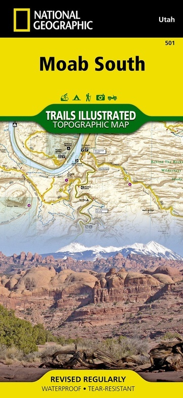 TI500 Moab South 1:70.000 9781566953566  National Geographic / Trails Illustrated Nat.Park/Recr.Series  Wandelkaarten Colorado, Arizona, Utah, New Mexico