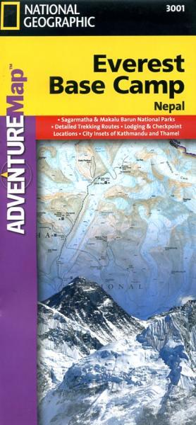 Everest Base Camp adventure map 1:50.000 9781566955195  National Geographic / Trails Illustrated Wandelkaarten Nepal  Wandelkaarten Nepal
