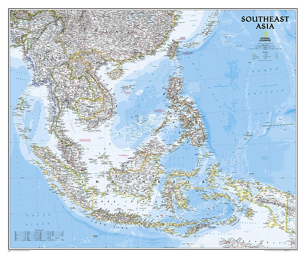 South-East Asia 9781597754439  National Geographic NG planokaarten  Wandkaarten Zuid-Oost Azië