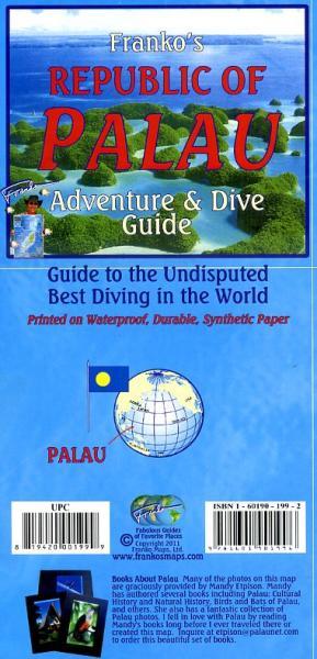 Palau 1:170.000 / 105.000 Guide & Dive Map 9781601901996  Franko's Maps   Landkaarten en wegenkaarten Pacifische Oceaan (Pacific)