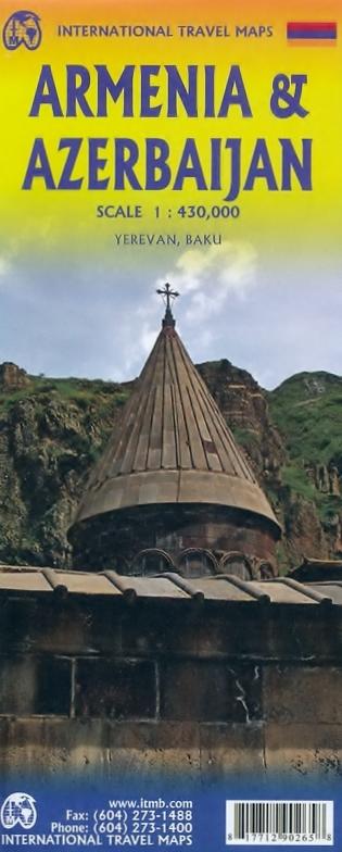 Armenia/Azerbaijan   landkaart, autokaart 1:560.000 9781771290265  ITM   Landkaarten en wegenkaarten Kaukasus