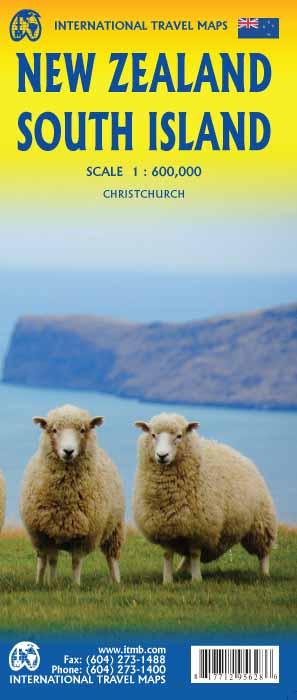 New Zealand, South Island   landkaart, autokaart 1:600.000 9781771295628  ITM   Landkaarten en wegenkaarten Nieuw Zeeland