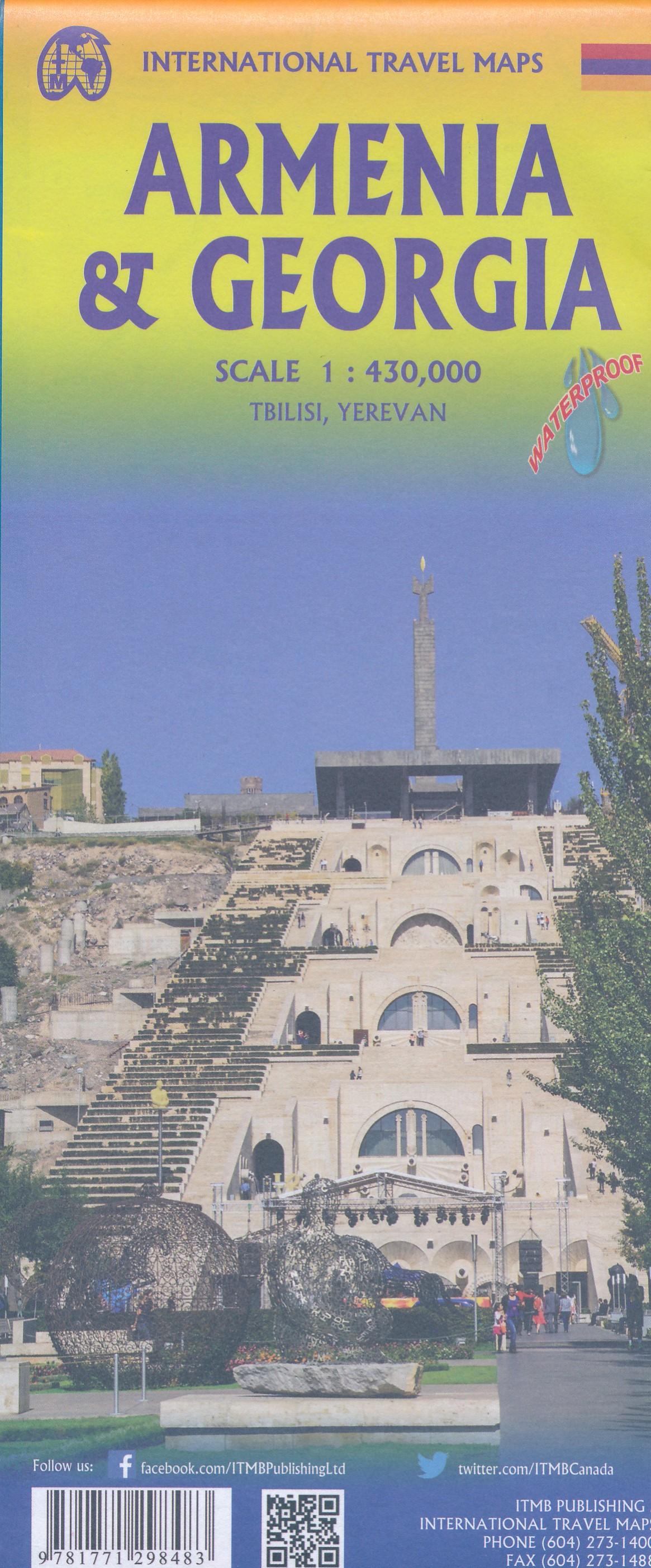 Georgia & Armenia   landkaart, autokaart 1:430.000 9781771298483  ITM   Landkaarten en wegenkaarten Kaukasus