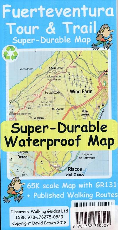 Fuerteventura 1:65.000 9781782750529  Discovery Guides   Meerdaagse wandelroutes, Wandelkaarten Fuerteventura