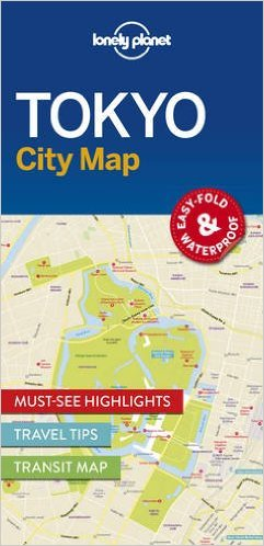 Tokyo | Lonely Planet City Map 9781786577832  Lonely Planet LP Maps  Stadsplattegronden Japan