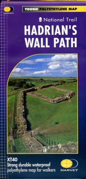 Hadrian's Wall Path | wandelkaart 1:40.000 9781851374380  Harvey Maps   Meerdaagse wandelroutes, Wandelkaarten Northumberland, Yorkshire Dales & Moors, Peak District, Isle of Man