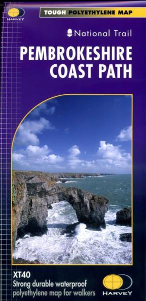 Pembrokeshire Coast Path | wandelkaart 1:40.000 9781851374595  Harvey Maps   Meerdaagse wandelroutes, Wandelkaarten Zuid-Wales, Pembrokeshire, Brecon Beacons