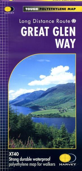 Great Glen Way | wandelkaart 1:40.000 9781851374632  Harvey Maps   Meerdaagse wandelroutes, Wandelkaarten de Schotse Hooglanden (ten noorden van Glasgow / Edinburgh)