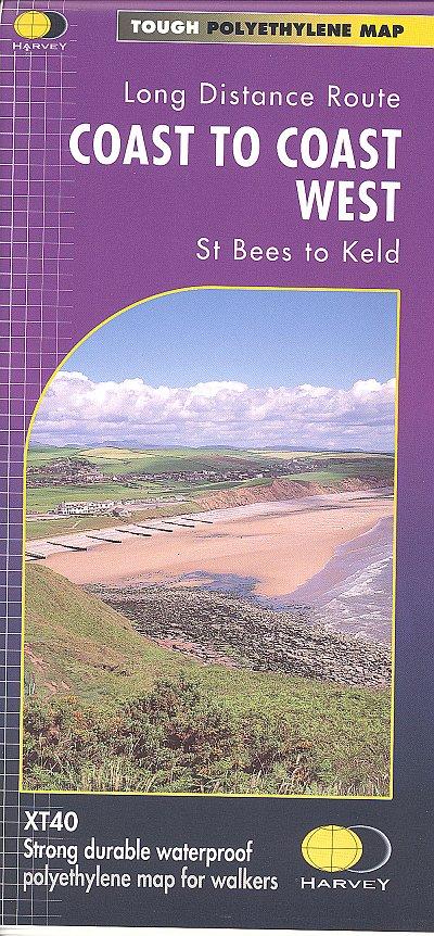 Coast to Coast (West) | wandelkaart 1:40.000 9781851374885  Harvey Maps   Meerdaagse wandelroutes, Wandelkaarten Northumberland, Yorkshire Dales & Moors, Peak District, Isle of Man