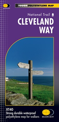 The Cleveland Way | wandelkaart 1:40.000 9781851374892  Harvey Maps   Meerdaagse wandelroutes, Wandelkaarten Northumberland, Yorkshire Dales & Moors, Peak District, Isle of Man