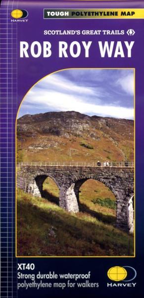 Rob Roy Way | wandelkaart 1:40.000 9781851375196  Harvey Maps   Meerdaagse wandelroutes, Wandelkaarten de Schotse Hooglanden (ten noorden van Glasgow / Edinburgh)