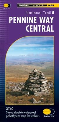 Pennine Way Central | wandelkaart 1:40.000 9781851375202  Harvey Maps   Meerdaagse wandelroutes, Wandelkaarten Northumberland, Yorkshire Dales & Moors, Peak District, Isle of Man