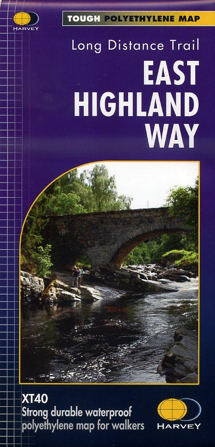 The East Highland Way | wandelkaart 1:40.000 9781851375301  Harvey Maps   Meerdaagse wandelroutes, Wandelkaarten de Schotse Hooglanden (ten noorden van Glasgow / Edinburgh)