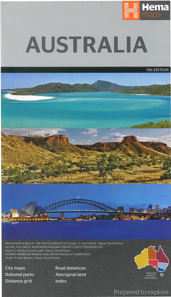 Australia 1:4.500.000 9781876413064  Hema Maps   Landkaarten en wegenkaarten Australië