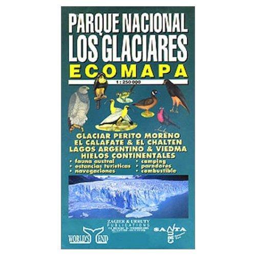 Parque Nacional Los Glaciares 1:250.000 9781879568433  Zagier & Urruty   Landkaarten en wegenkaarten Chili, Argentinië, Patagonië